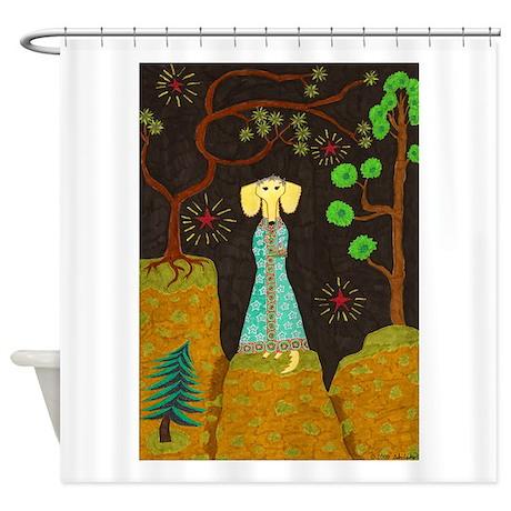 Golden Fur Shower Curtain