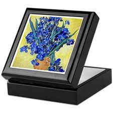 Van Gogh - Irises 1890 Keepsake Box