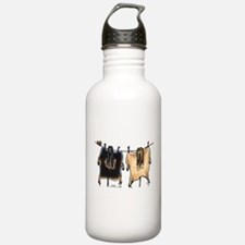 Line Dry Afghans Water Bottle
