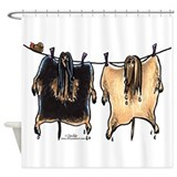 Afghan hound Shower Curtains