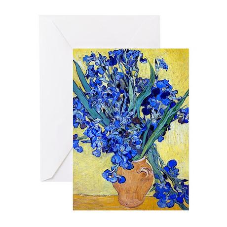 Van Gogh - Irises 1890 Greeting Cards (Pk of 10)