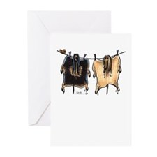 Line Dry Afghans Greeting Cards (Pk of 20)