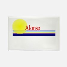 Alonso Rectangle Magnet