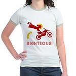 RIGHTEOUS! Jesus Jr. Ringer T-Shirt