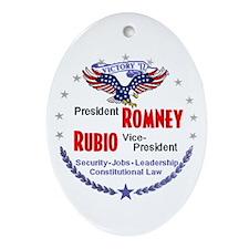 Romney Rubio Ornament (Oval)