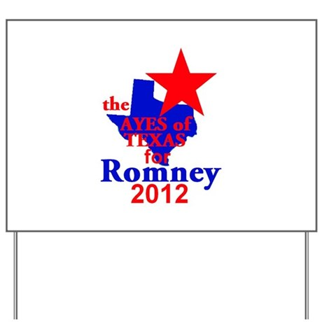 Romney TEXAS Yard Sign