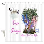 Triad Designz Fairy Logo Shower Curtain