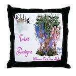 Triad Designz Fairy Logo Throw Pillow