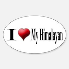 I Love My Himalayan Oval Decal
