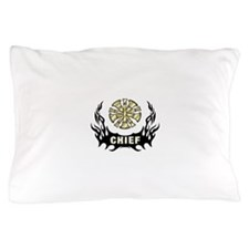 Fire Chief Tattoo Flames Pillow Case