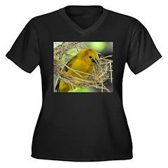 Golden Weaver Women's Plus Size V-Neck Dark T-Shir