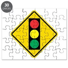 Signal Ahead Caution Sign Puzzle