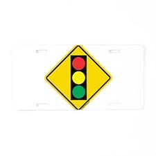 Signal Ahead Caution Sign Aluminum License Plate