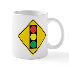 Signal Ahead Caution Sign Mug