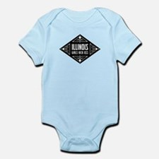 Illinois Girls Kick Ass Infant Bodysuit