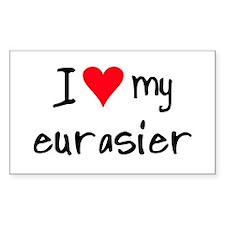 I LOVE MY Eurasier Decal
