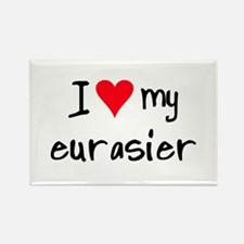 I LOVE MY Eurasier Rectangle Magnet (10 pack)