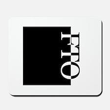 FTO Typography Mousepad