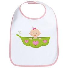 Baby Girl Pea Pod Boat Bib