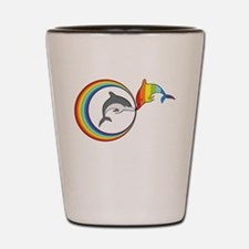 Rainbow Dolphin Shot Glass