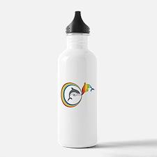 Rainbow Dolphin Water Bottle