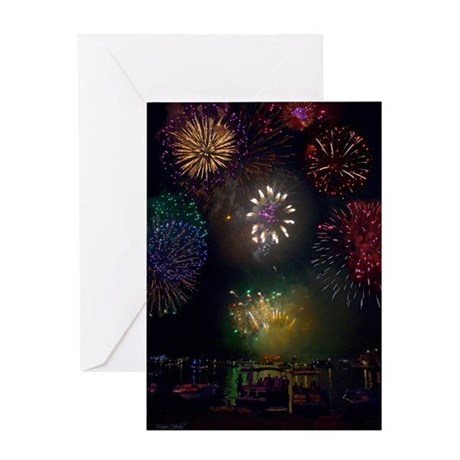 July 4th Fireworks Greeting Card