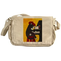 Tuxedo Cat and Piano Messenger Bag