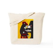 Tuxedo Cat and Piano Tote Bag