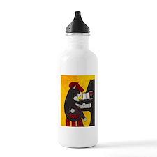 Tuxedo Cat and Piano Water Bottle