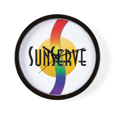 SunServe logo Wall Clock