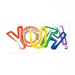 SunServe Youth logo Aluminum License Plate