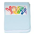SunServe Youth logo baby blanket