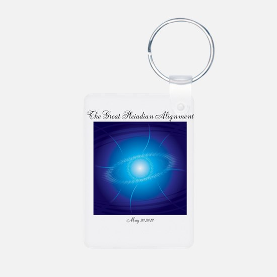 Pleiadian Alignment Aluminum Photo Keychain