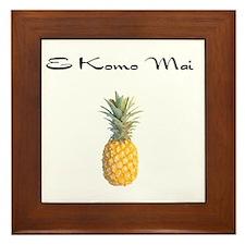 E Komo Mai (Black) Framed Tile