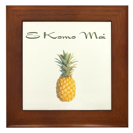 E Komo Mai (Sage Green) Framed Tile