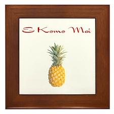 E Komo Mai (Red) Framed Tile