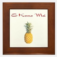 E Komo Mai (Red) Framed Tile