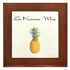 E Komo Mai (Plum) Framed Tile
