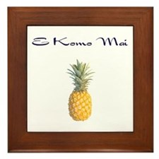 E Komo Mai (Navy) Framed Tile
