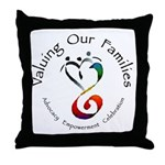Valuing Our Families Throw Pillow