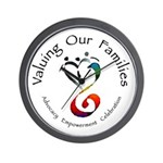 Valuing Our Families Wall Clock