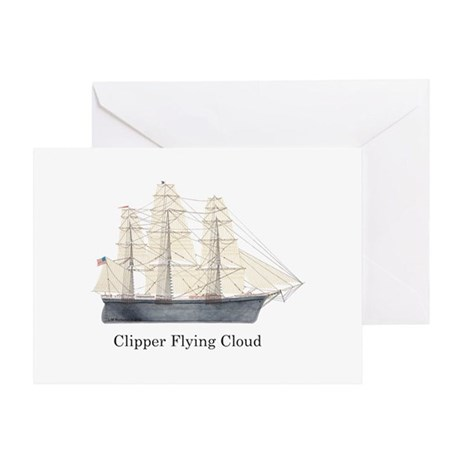 Clipper Flying Cloud Greeting Card