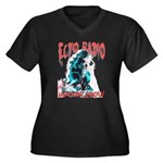 Ectozilla Women's Plus Size V-Neck Dark T-Shirt