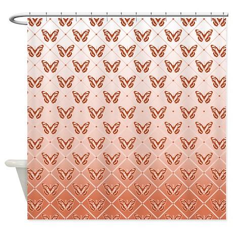 Rose Butterflies Shower Curtain