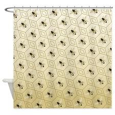 Honey Bee Honeybee Shower Curtain