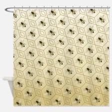 Honey Bee Honeybee Shower Curtain