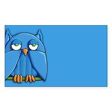 Aqua Owl aqua Decal