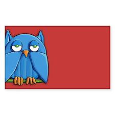 Aqua Owl red Decal