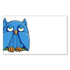 Aqua Owl Decal