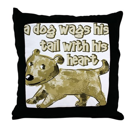 Dog Tail Throw Pillow